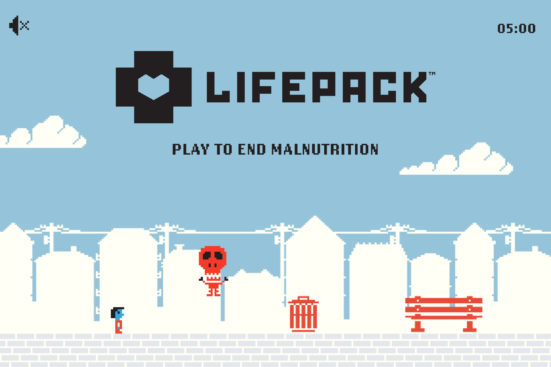 A screenshot of the arcade game for LifePack