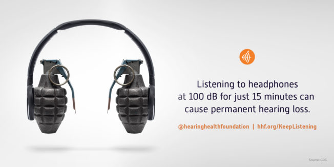 A headphone made out of grenades