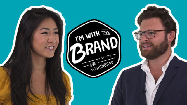 Omsom co-founder Vanessa Pham with I'm With The Brand host Ian Wishingrad
