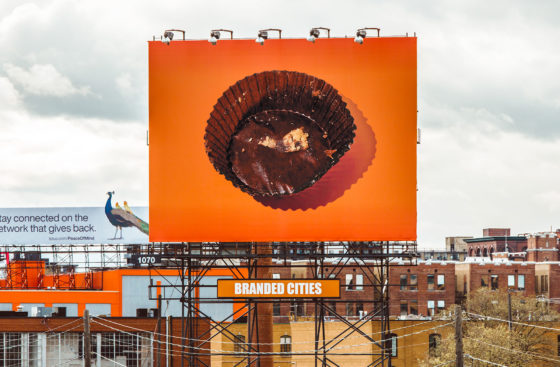 Billboard of a Reese's wrapper