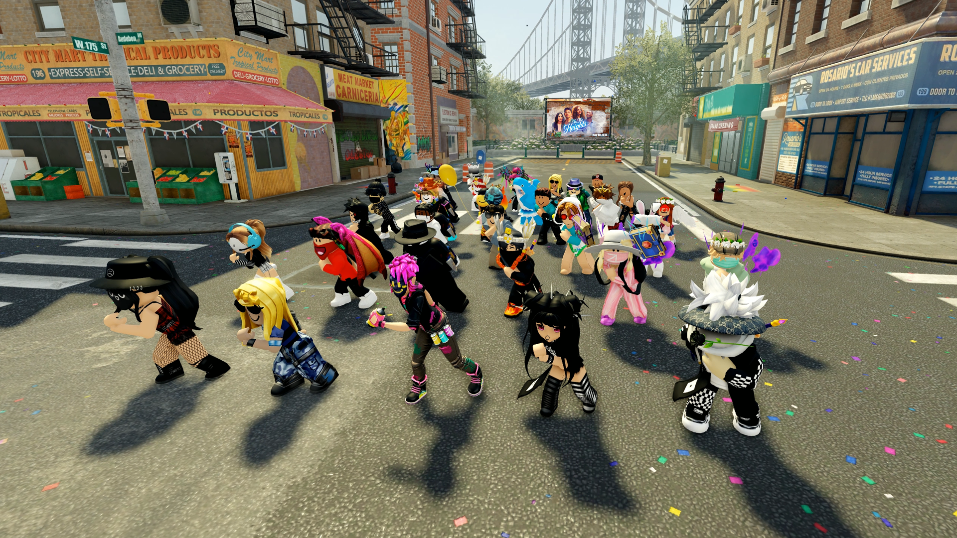 Roblox In the Heights flash mob