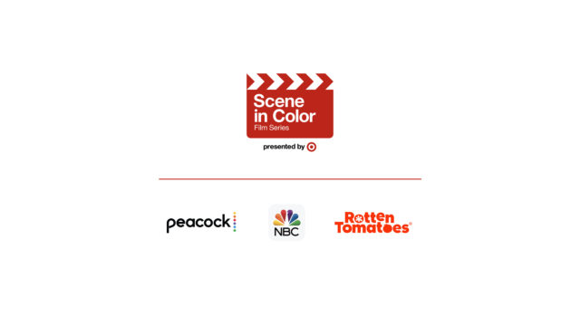 Various logos from Target, Peacock, NBC, and Rotten Tomatoes