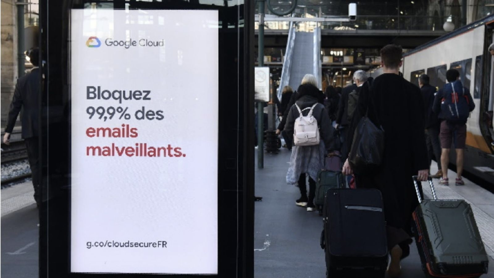 A digital poster site in France