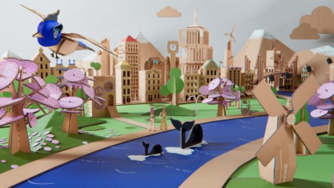 Samsung's Small World featuring upcycled packaging