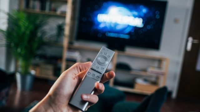 television remote control changing channel