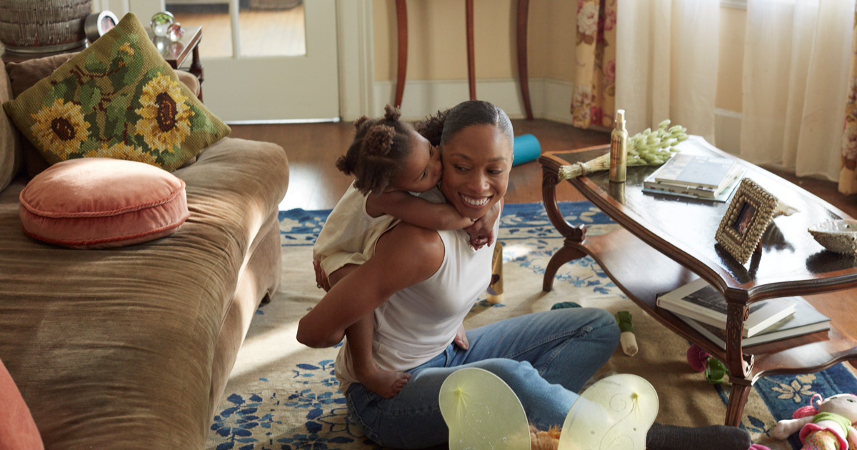 allyson felix with daughter