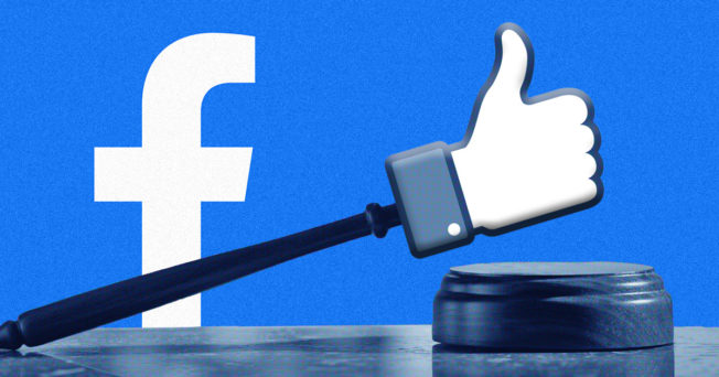 facebook logo with thumb