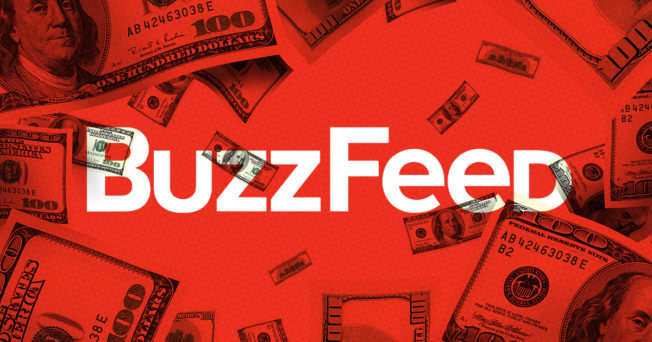 Buzzfood logo surrounded by cash