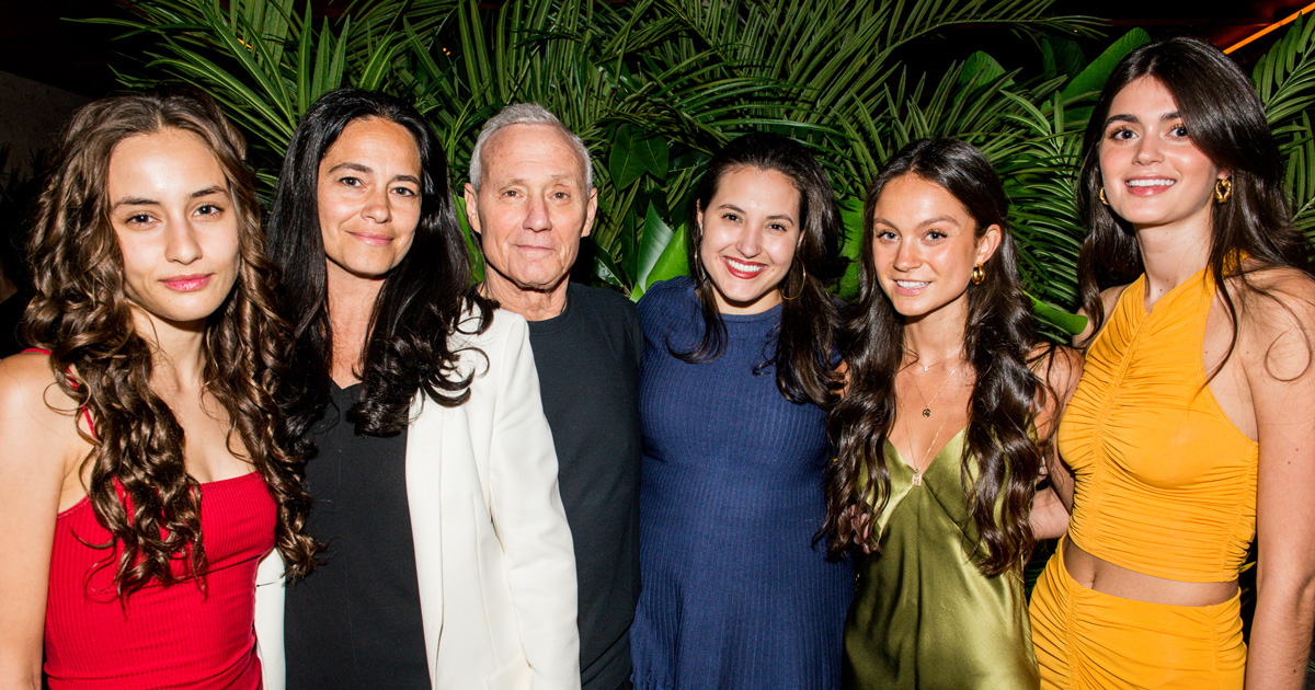 Ian Schrager with frequenters of his hotels