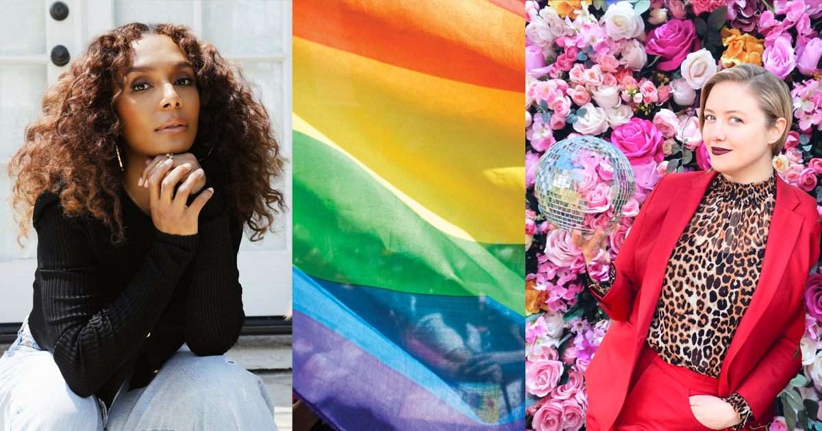 Janet Mock, Pride Flag and Katie Martell