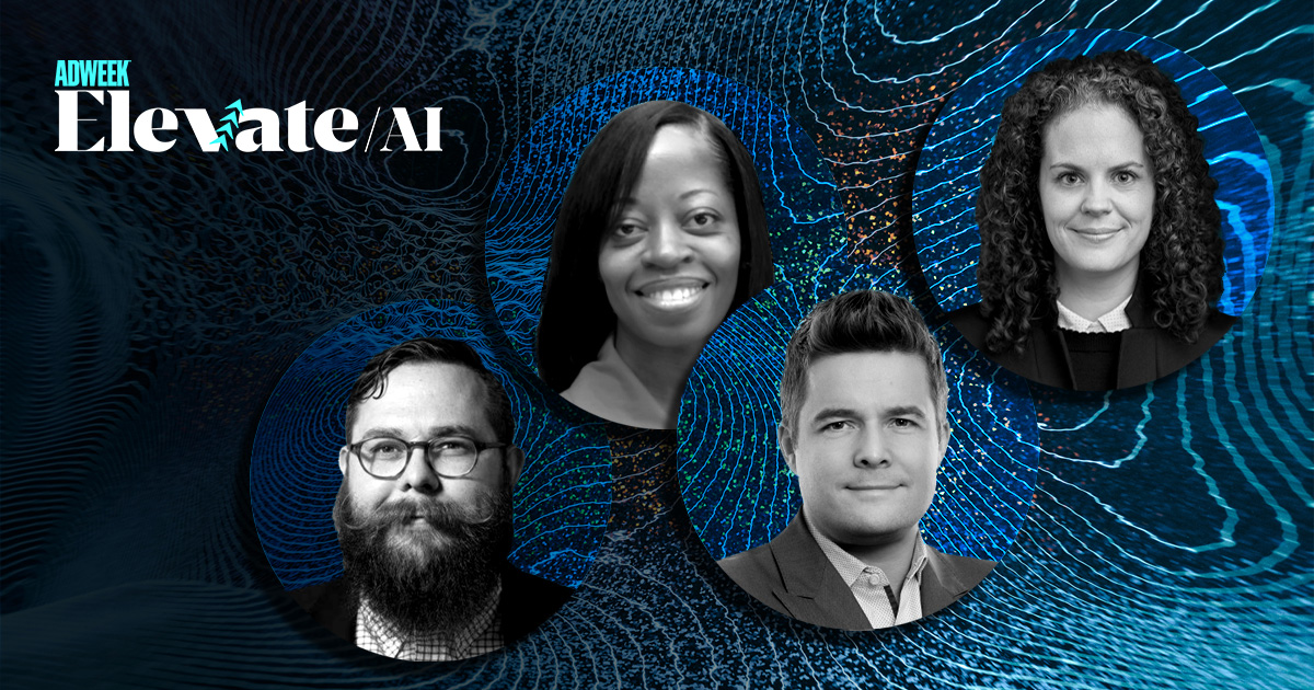 collage of Elevate: AI speakers