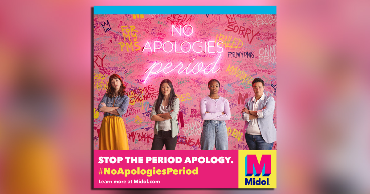 Midol brings in real women to stop the period apology.