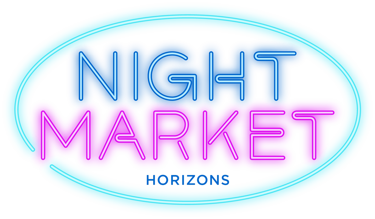 Night Market logo, which looks like a neon sign