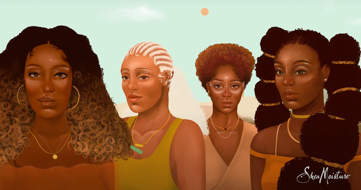 Animation of a group of Black women