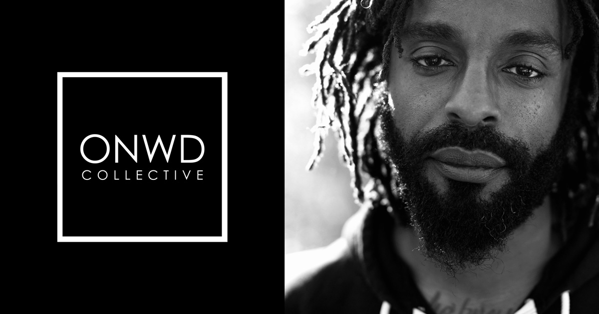 Side-by-side image of the collective's logo and John Forte