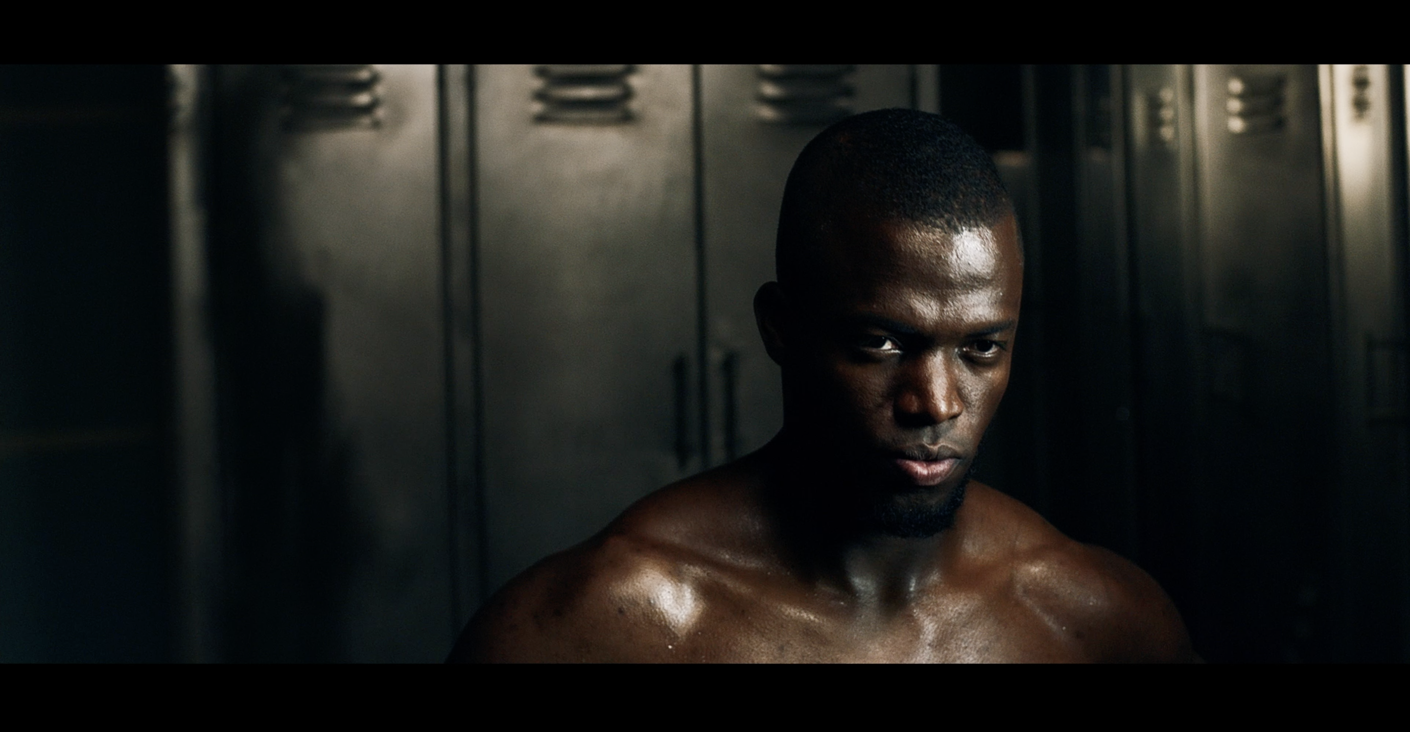 Enner Valencia stares directly into the camera with determination
