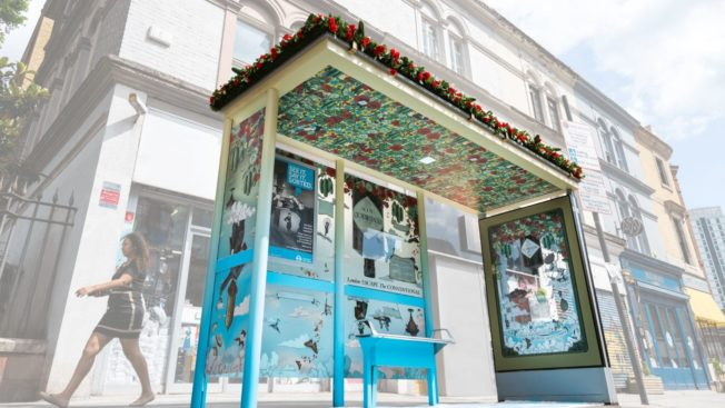 Victorian-style Bus Shelters Scented with Roses and Cucumber to Sell Gin