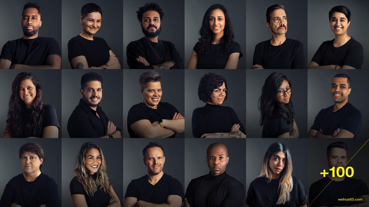 images of workers at HUSTLE agency collective
