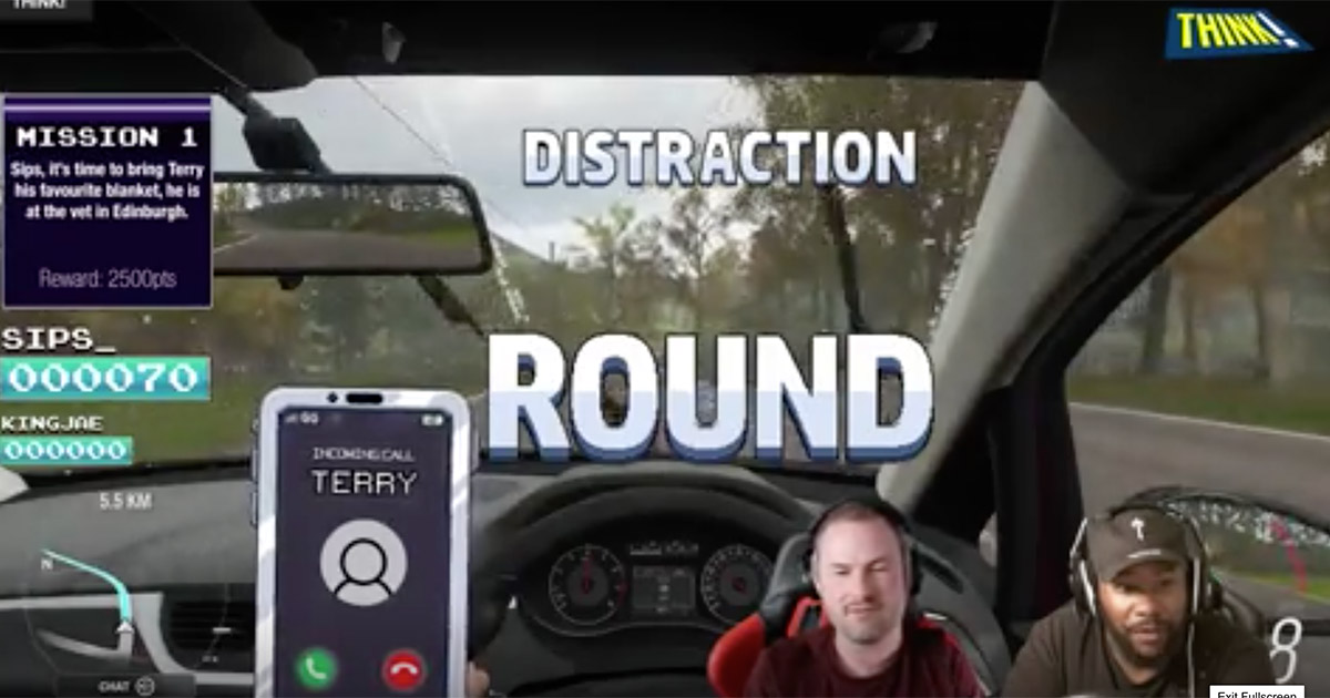 british campaign road safety twitch