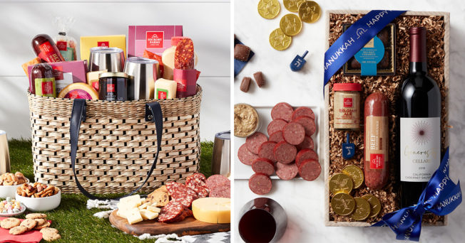 Gift baskets offered by Hickory Farms