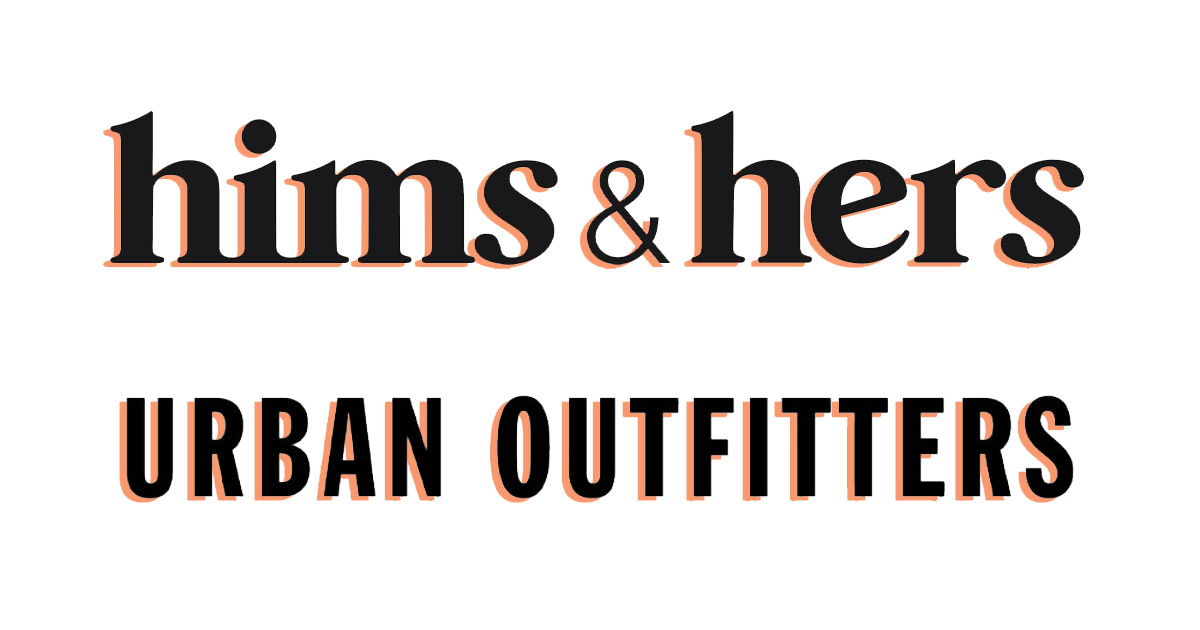 urban outfitters x hims & hers collab logo