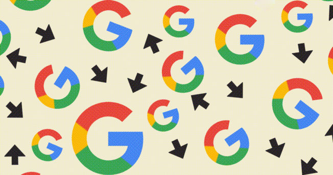 Google Chrome logo with arrows pointing in different directions
