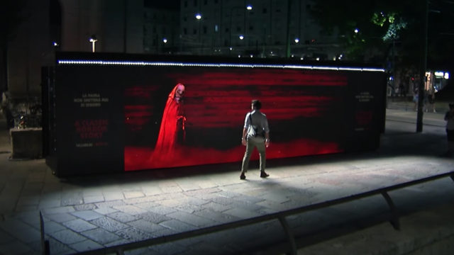 Netflix' stunt in Milan to promote A Classic Horror Story