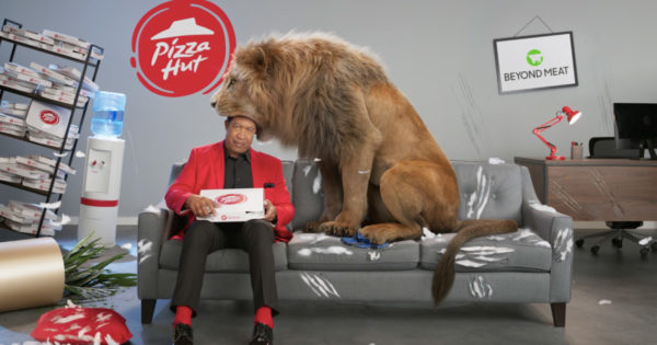 Pizza Hut Ad Gives Clarence the Lion a Choice- Pizza or Man?