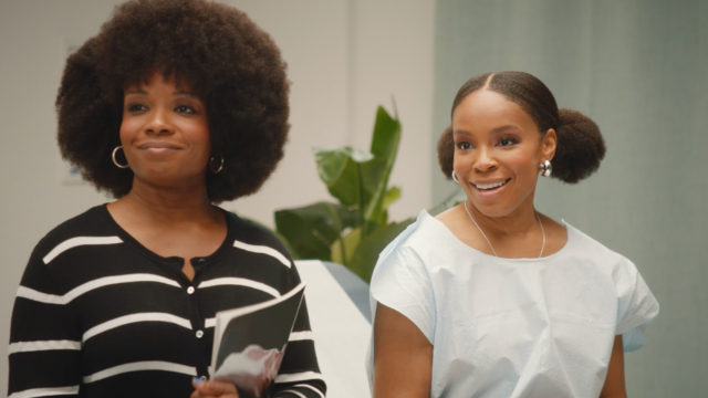 Amber Ruffin and her sister Lacey Lamar in a doctor's office