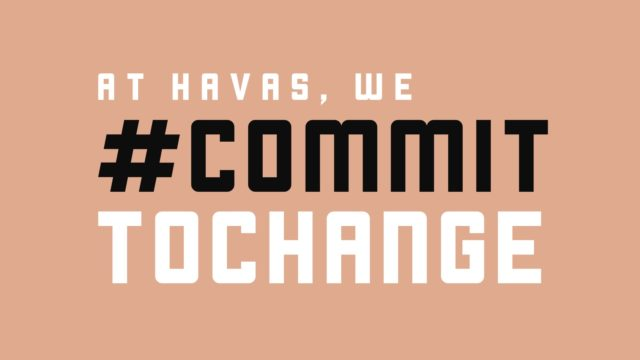A graphic depicting Havas' commitment to change