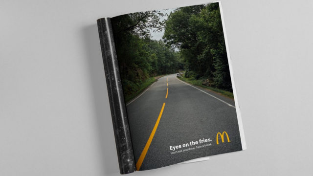 McDonald's Wants Drivers to Keep Their Minds on the Road and off Its Food