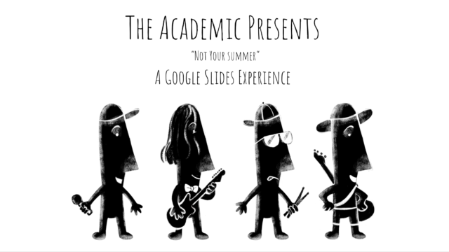 A Google Slide that doubles as a title card for a music video