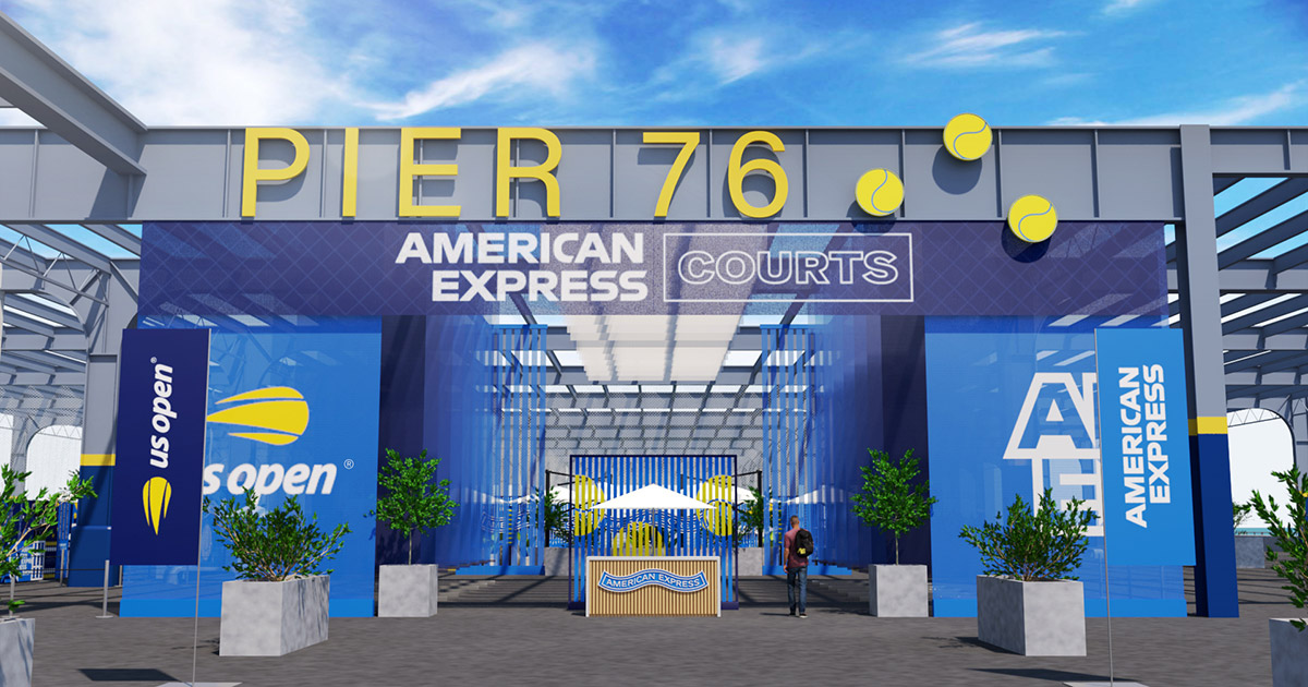 Amex Serves Tennis Court Pop Up For Us Open S Return