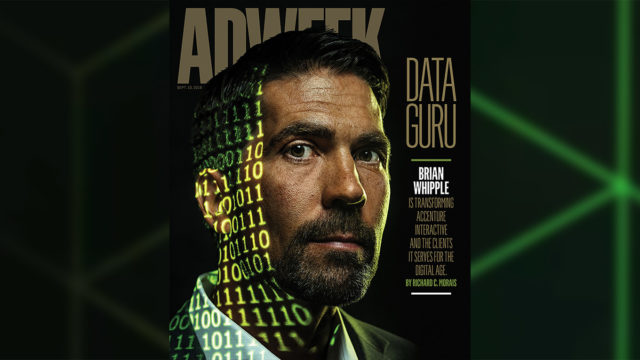 Brian Whipple is shown on the cover of an issue of Adweek