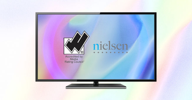a computer screen with the nielsen logo