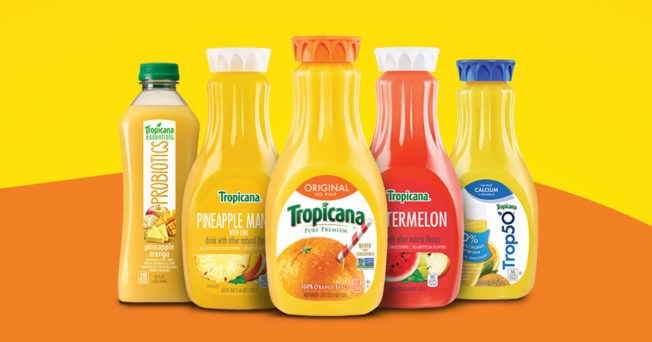 A lineup of Tropicana's juice offerings