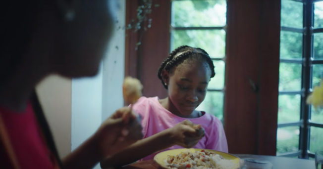 Two girls eat a meal featuring Ben's Original rice in first campaign