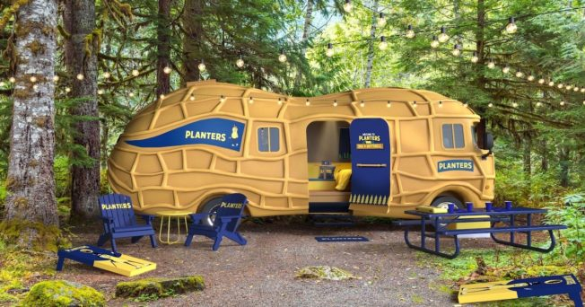 You Can Book and Overnight Stay at the Planters NUTmobile For the First Time Ever