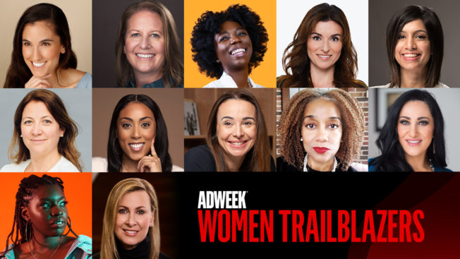 Photo collage of women featured in Adweek's Women Trailblazers. Text reads: Adweek Women Trailblazers.