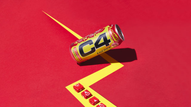 Can of Cherry flavored Starburst C4 Energy