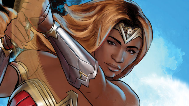 Serena Williams as an illustrated Wonder Woman