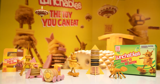 lunchables in-store activation at FAO schwarz