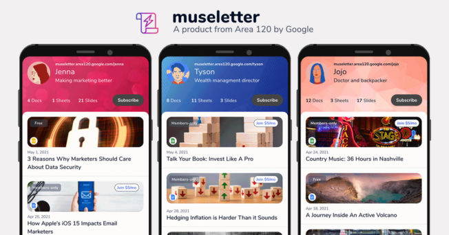 Google new Museletter product