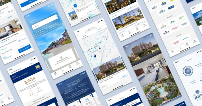 The Wyndham Hotels & Resorts movie app on multiple device screens