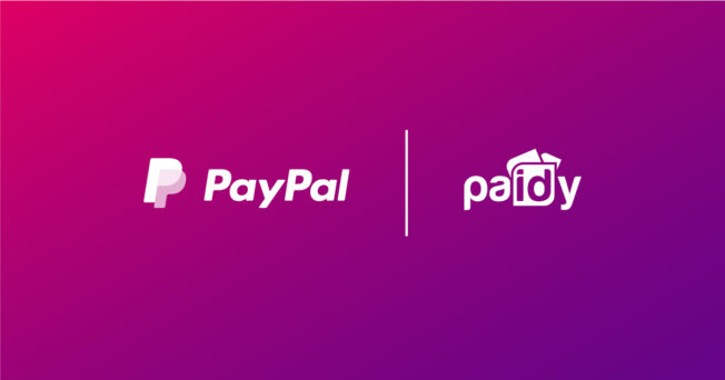 PayPal and Paidy logos