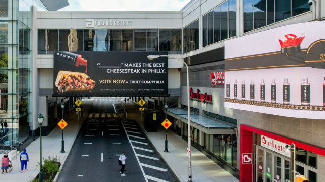 Truff OOH ad for voting on best Philly cheesesteak