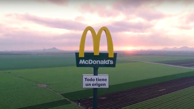 McDonald's Erects Restaurant Signs in Spanish Fields to Mark Ingredient Sources