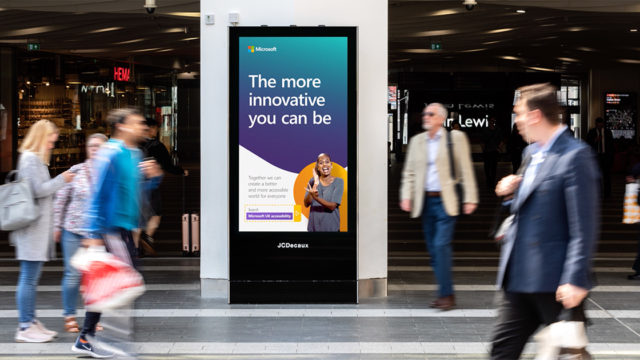 Microsoft UK DOOH Campaign Speaks Directly to the Deaf in Accessibility Drive