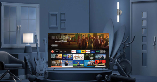 TV with menu of streaming services