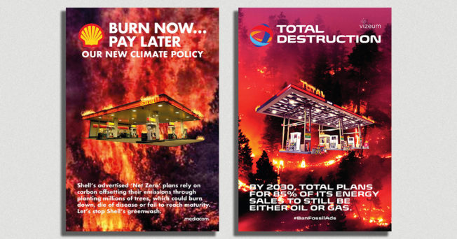 European Ad Agencies Targeted by Spoof Posters Calling Out Their Fossil Fuel Clients